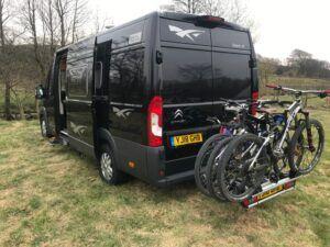 Camper Hire bike rack